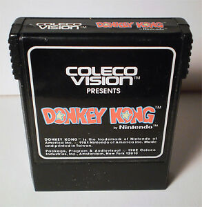 DONKEY KONG BY NINTENDO COLECOVISION GAME CARTRIDGE 1982