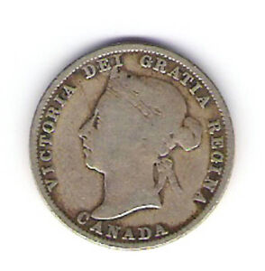 Coin 1889 Canada 25 Cent Quarter 'Closed 9'