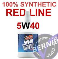 5W40 REDLINE FULL SYNTH MOTOR OIL VW AUDI BMW PORSCHE MERCEDES