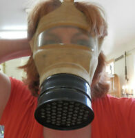 Vintage WWII Dominion Gas Mask