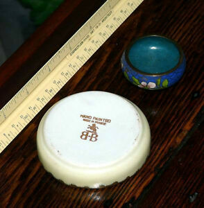Birks small handpainted French mint dish or salt cellar Kingston Kingston Area image 3