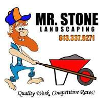 Booking for 2017 season - Mr. Stone Landscaping