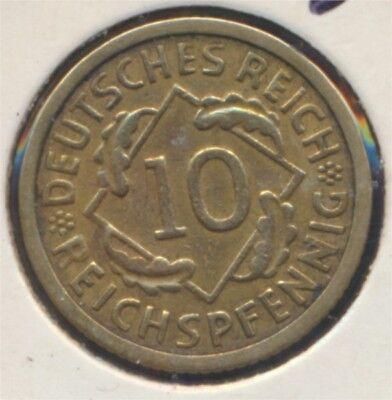 Deutsches Reich Jägernr: 317 1934 G vorzüglich 1934 10 Reichspfennig (7869014