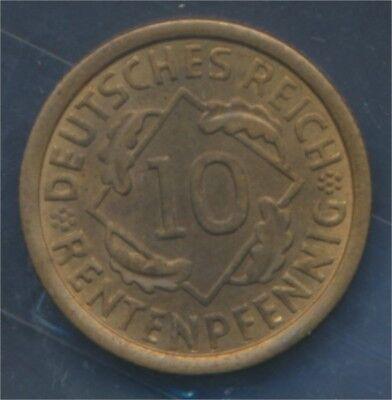 Deutsches Reich Jägernr: 309 1924 F Stgl./unzirkuliert 10 Rentenpfennig (7879640