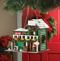 Santa's Workshop Birdhouse With Cleanout Hole Brand New