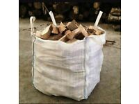 Bulk bag of seasoned logs