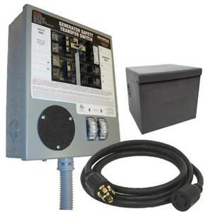 Generac # 6294 30 Amp 6-10 Circuit Manual Portable Generator Transfer Switch Kit