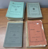 Antique Papers 1899-1977 Annual Reports Kenyon Church Dunvegan