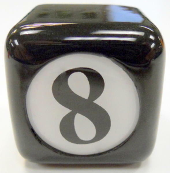 NEW 8Ball - 8 Ball - Chalker w/ Vinyl Grip - Black Table Chalker -Pool Cue Chalk