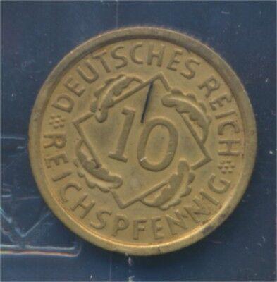 Deutsches Reich Jägernr: 317 1936 G vorzüglich 1936 10 Reichspfennig (7879744