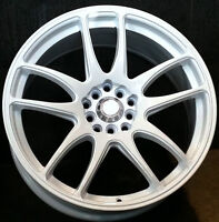 New!!! 17 WHITE RIMS w/NEW TIRES - mazda 3 6 lancer evo celica