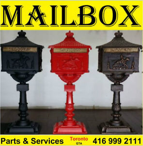 Mailbox .Cast Iron Urns,Flower Pot & Canopy.Stairs Parts