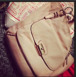 Beige gently used coach purse  Strathcona County Edmonton Area image 1