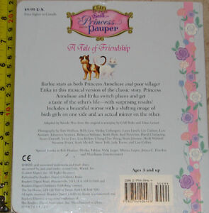Barbie The Princess and the Pauper Hard Cover Book London Ontario image 2