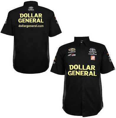 Matt Kenseth 2014 Chase Authentics  20 Dollar General Pit Shirt Free Ship