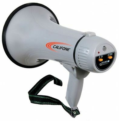 Califone Pa-15 Megaphone With Built-in Siren 15 Watts Rms 20w Max Power Output