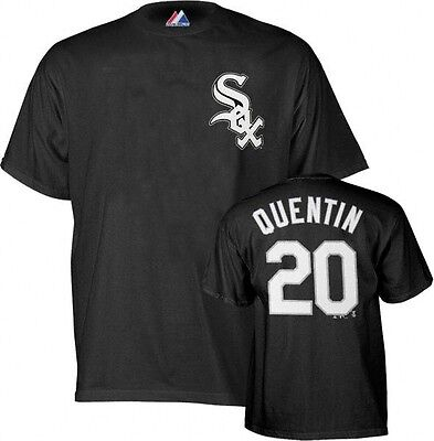 Chicago White Sox # 20 Carlos Quentin MLB Majestic Tee Shirt Big & Tall Sizes Chicago White Sox Tee