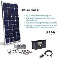 100W / 200W / 300W RV or Cabin Solar panel kit photovoltaic