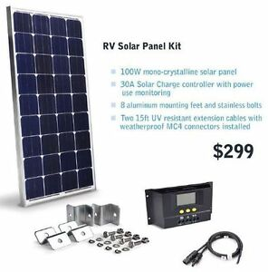 150W / 300W RV or Cabin Solar panel kit photovoltaic