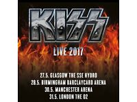 **REDUCED**2 x Kiss Seated Tickets - Glasgow, Less Than Face Value