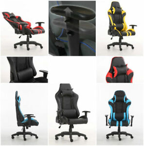 Gaming Chair with 3-D arm rest, 170 degree recline head and lumb