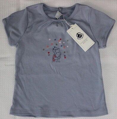 Petit Bateau T-Shirt NEU hellblau Gr.95/ 98 Kind mit Hund