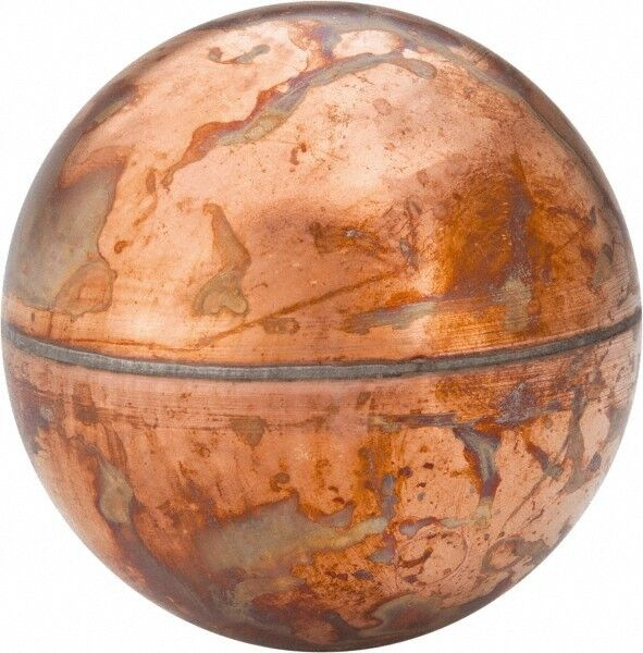 Made in USA 2-1/2 Inch Diameter, Spherical, Internal Connection, Metal Float ...