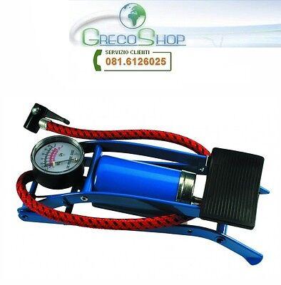 Gonfiatore/Pompa a pedale con manometro.