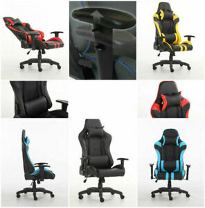 Gaming Chair with 3D arm rest, 170 degree recline, head support,