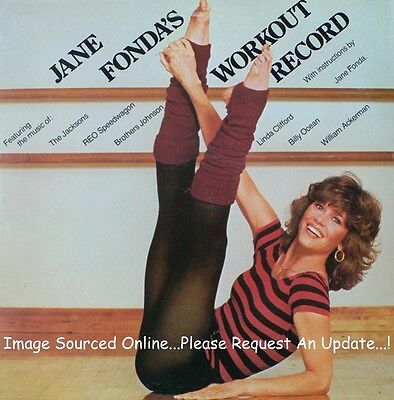 JANE FONDA's Workout Record (1981 U.S. Gold Foil Stamped Promo Double LP)