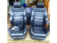 Vw golf mk4 black leather recaro seats/door cards (5 door)