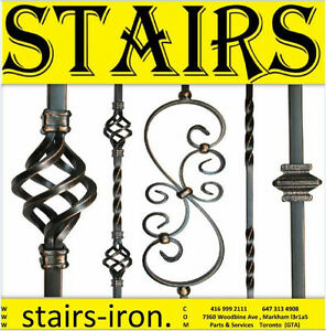 Stairs Treads.Posts.Handrail,Wrought iron Baluster