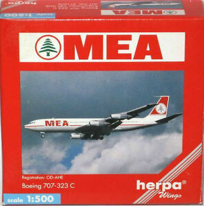 Herpa Wings 1/500 Scale MEA Metal Plane Models Diecast