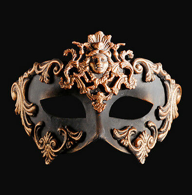 Mask Venice colombine Barocco the Lady bronze authentic paper mash 441