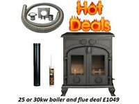 HOT STOVE DEALS !!!! FREE FAST DELIVERY !!!! OPEN LATE multi fuel wood burner boiler morso hunter