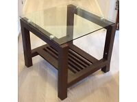2 x modern Side/lamp table& matching mirror