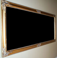 Mirroir Antique Encadré en Bois Or, Antique Wooden Frame Mirror