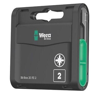 Wera 057760 Universal Pozi Bit-Box Screwdriver Bits PZ2 (x20)
