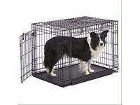 KONG 2door medium black dog crate, brand new never used