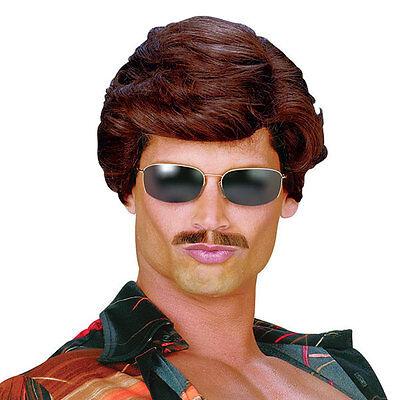 Herren 70er Jahre 80er 90er Braun Filmstar Salesman Kostüm Perücke - Filmstars Kostüm
