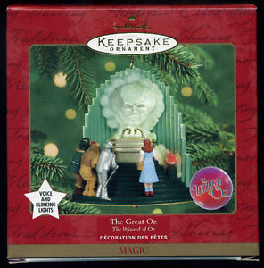 Hallmark Keepsake The Wizard Of Oz The Great Oz w/ Voice & Light