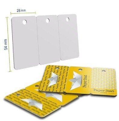 100pcs Plastic White Inkjet Printable 3 up Keychain  Key Tag Combo PVC Card