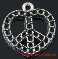 tibetan silver heart peace necklace---new!