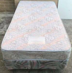 Excellent single bed base with mattress.Pick up or delivery avail Kingsbury Darebin Area Preview