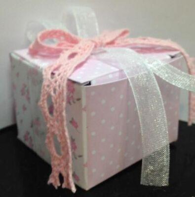 Stock 20 Stück Shabby Pink Koffer IN Karton Quadratisch Mandeln Beutel D