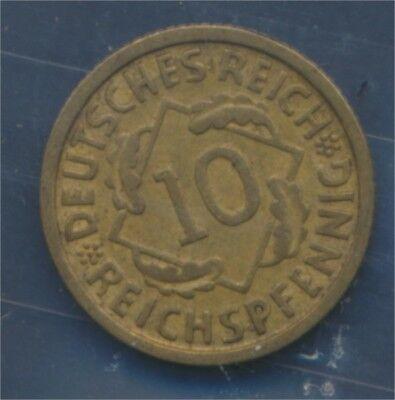 Deutsches Reich Jägernr: 317 1930 D vorzüglich 1930 10 Reichspfennig (7879589