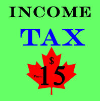 PERSONAL INCOME TAX RETURNS : FROM $15