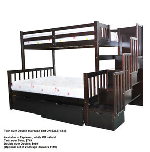 SOLID WOOD - BUNK BED SALE!!!