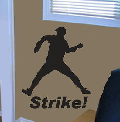 wall art sticker BASEBALL PLAYER DECAL KIT Vinyl - Baseball Dekoration Kit