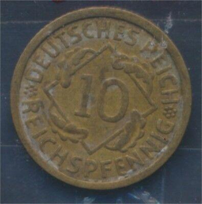 Deutsches Reich Jägernr: 317 1934 G sehr schön 1934 10 Reichspfennig (7879697
